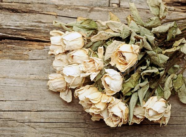 花束 バラ 古い木材 コピースペース 花 ストックフォト © inxti