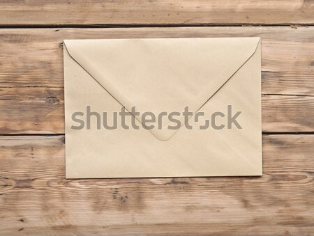 Old wooden frame on the grunge brick wall Stock photo © inxti