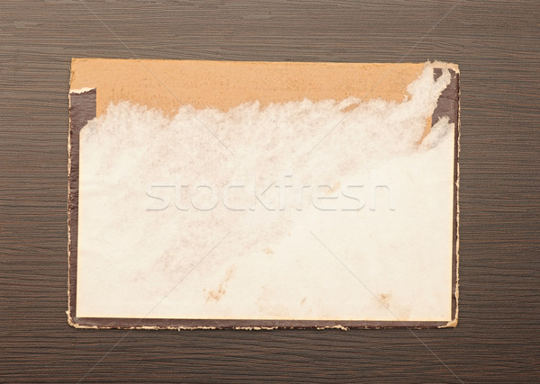 Old paper on the wood background  Stock photo © inxti