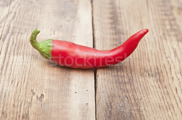 red chili pepper on old wooden table Stock photo © inxti