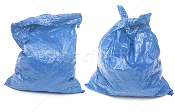 blue garbage bags isolated on a white background  Stock photo © inxti