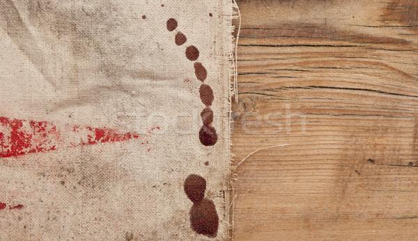 Textura arpillera madera vieja papel madera retro Foto stock © inxti
