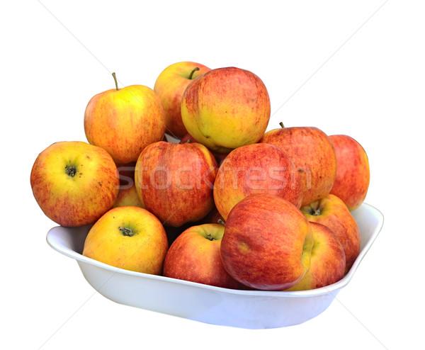 juicy apple on a white dish Stock photo © inxti