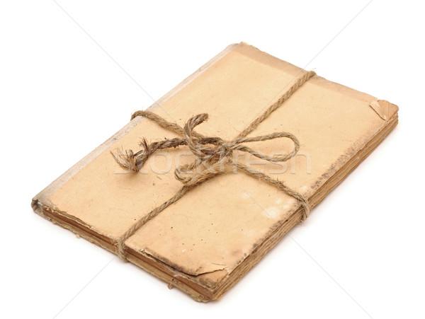 Starej książki w górę liny odizolowany biały tekstury Zdjęcia stock © inxti