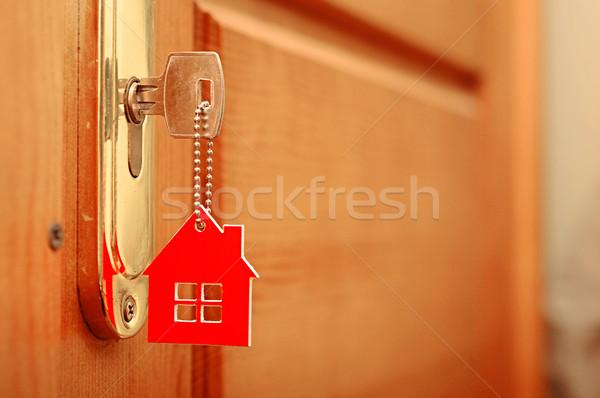 Simge ev sopa anahtar anahtar deliği aile Stok fotoğraf © inxti