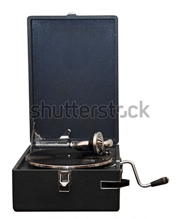 An old dusty gramophone playing a vinyl record  Stock photo © inxti