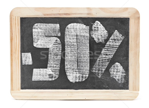 fifty percent discount written on blackboard  Stock photo © inxti