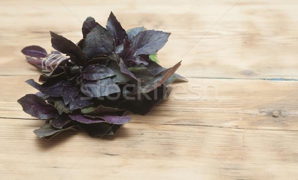 Aromás hozzávalók fa asztal asztal főzés tábla Stock fotó © inxti