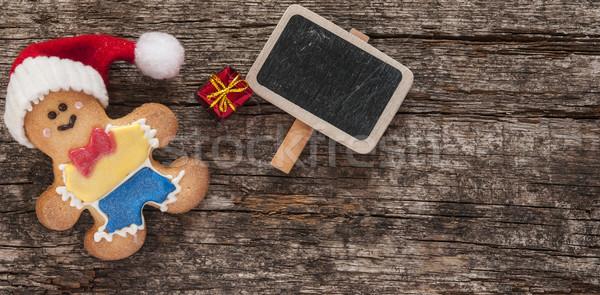 пряничный Cookies Рождества деревянный стол домашний человека Сток-фото © inxti