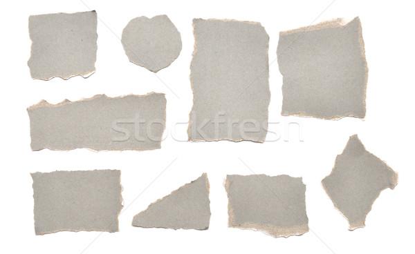 Stock fotó: Gyűjtemény · szürke · darabok · papír · fehér · iroda