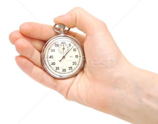 Stopwatch in hand  Stock photo © inxti