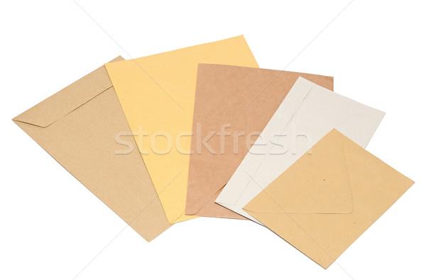 pile envelopes on white background  Stock photo © inxti