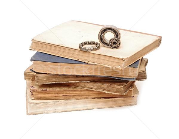 bearings on pile books Stock photo © inxti