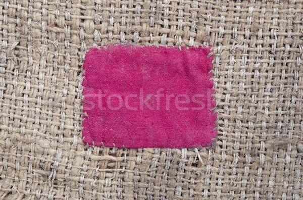 Jute Rood textuur abstract ontwerp Stockfoto © inxti