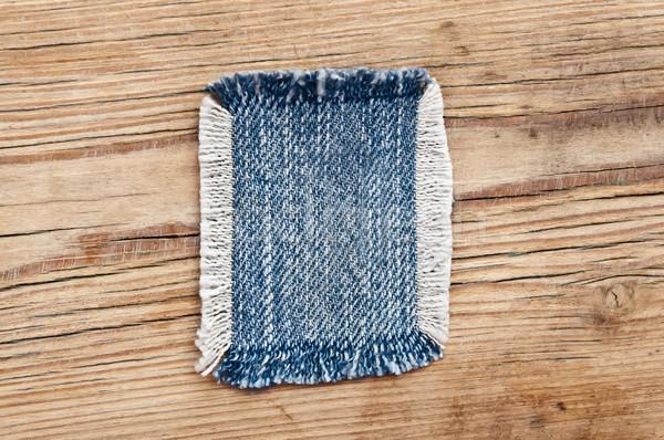 Weefsel denim jeans textuur mode Stockfoto © inxti