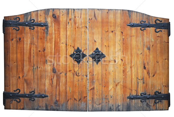vintage wooden door on the white background  Stock photo © inxti