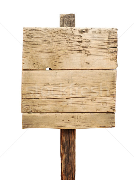 Old weathered wood sign isolated  Stock photo © inxti