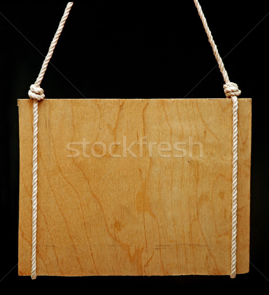 Old notice board  on black background Stock photo © inxti