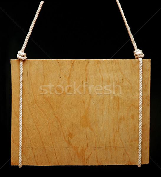 Velho quadro de avisos preto estrada madeira retro Foto stock © inxti