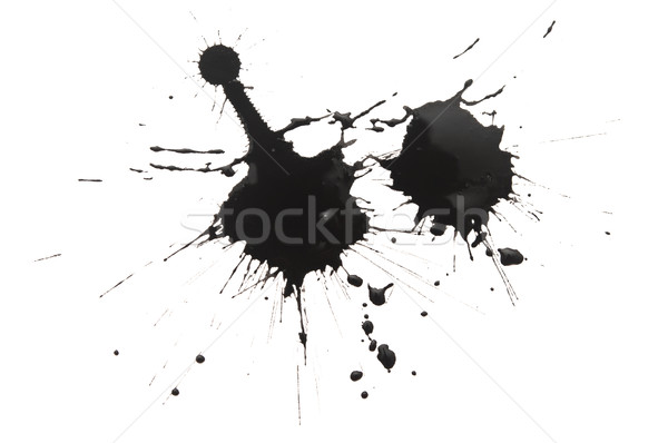 Black watercolor blob, isolated on white Stock photo © inxti