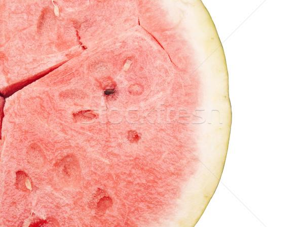 Rood zoete watermeloen geïsoleerd witte textuur Stockfoto © inxti