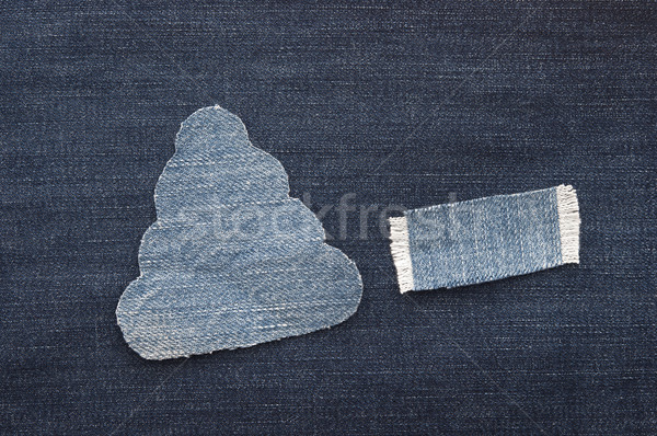 christmas background: jeans texture with shape Christmas tree.  Stock photo © inxti