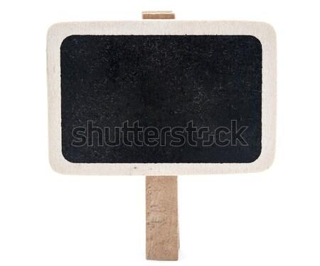Wooden information label on white background Stock photo © inxti