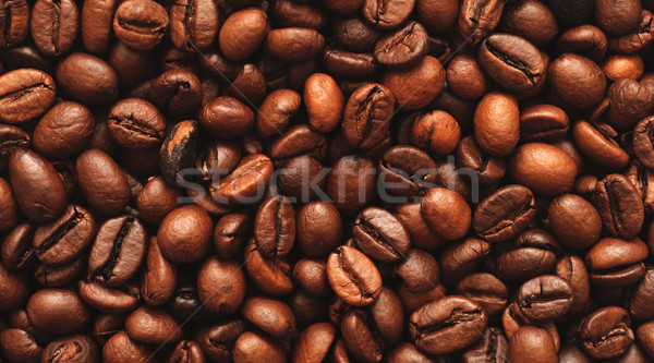 Photo stock: Grains · de · café · café · noir · énergie · couleur · chute