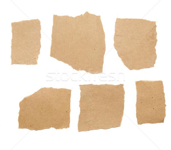 коллекция коричневый частей бумаги белый служба Сток-фото © inxti