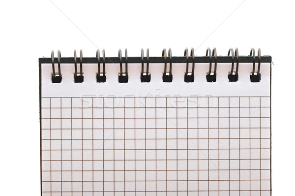 blank background. paper spiral notebook isolated on whit  Stock photo © inxti