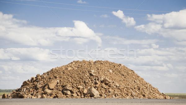 Rock wegenbouw hemel gebouw bouw Stockfoto © inxti