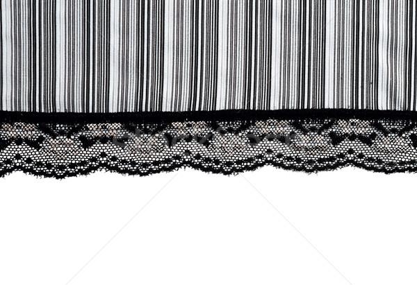 Foto stock: Decorativo · preto · renda · isolado · branco · textura