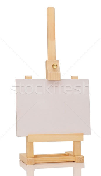 Blank art board, wooden easel, front view, isolated on white Stock photo © inxti