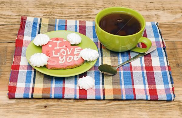 Stok fotoğraf: Tatlı · kalp · kurabiye · renkli