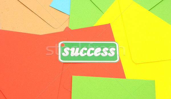 message of success on colorful envelopes Stock photo © inxti