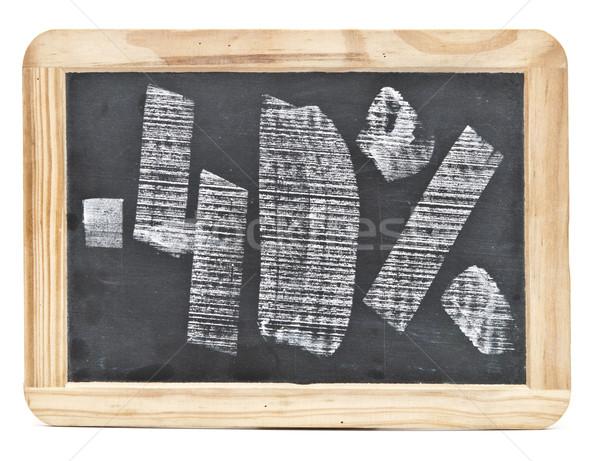Quaranta cento mano scritto lavagna sfondo Foto d'archivio © inxti