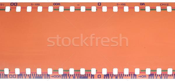 35mm filmstrip yalıtılmış beyaz doku film Stok fotoğraf © inxti