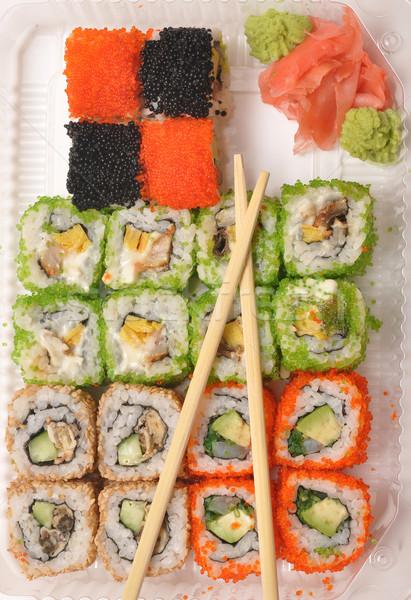 Foto stock: Sushi · japonês · comida · peixe · restaurante