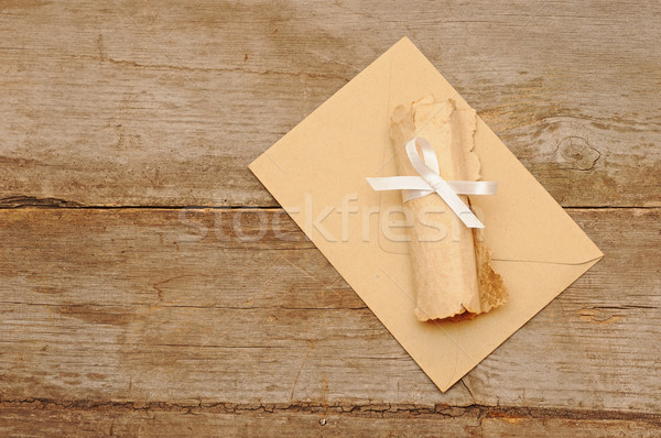 envelopes with roll old paper  Stock photo © inxti