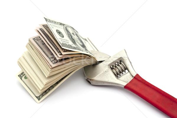 Chiave dollaro valuta isolato bianco Foto d'archivio © inxti