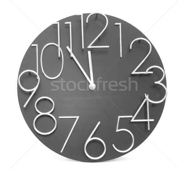 Wall clock, photo on the white background  Stock photo © inxti