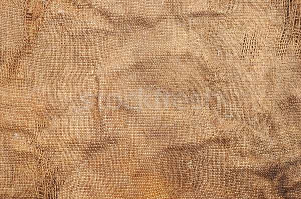 Texture of an old, dirty sack Stock photo © inxti