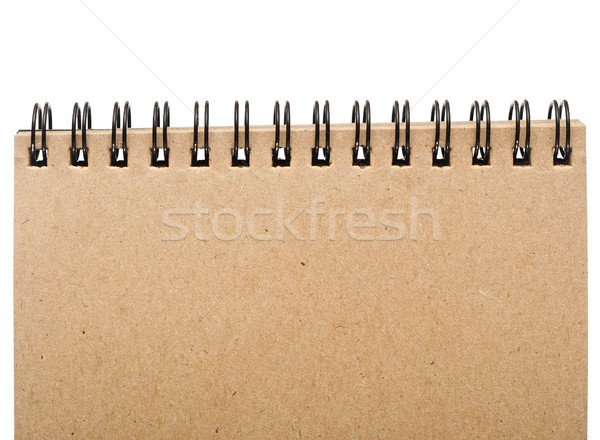 Empty blank front page cover of spiral bound note pad isolated i Stock photo © inxti
