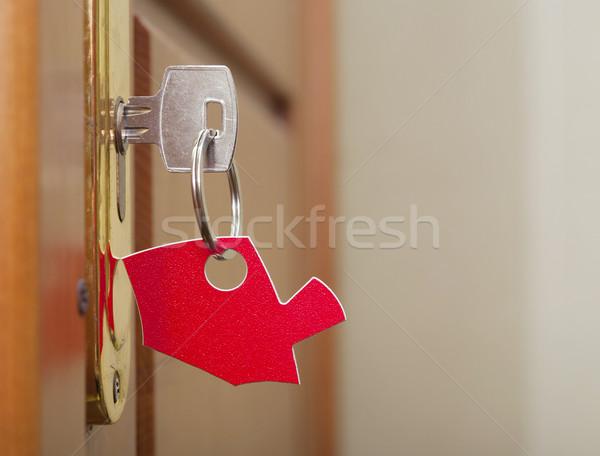Zdjęcia stock: Kluczowych · blokady · domu · ikona · budynku · drzwi
