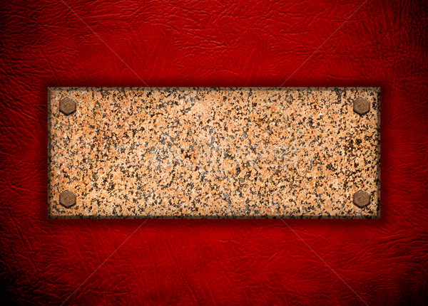 granite stone on red wall  Stock photo © inxti
