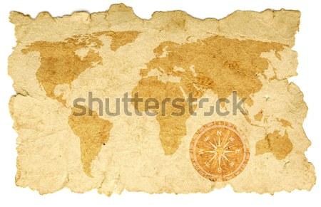 Vecchia mappa tela rosa mondo africa pianeta Foto d'archivio © inxti
