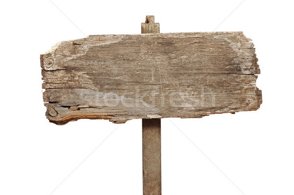 Old wooden signpost Stock photo © inxti