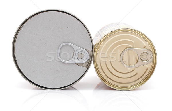 Metal tin conserve can, top view Stock photo © inxti