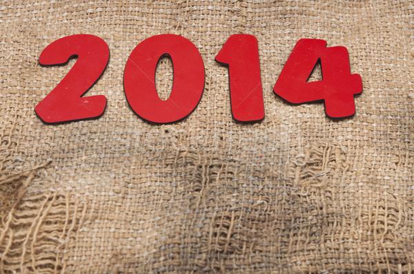 Capodanno 2014 vecchio tela ruvida design sfondo Foto d'archivio © inxti