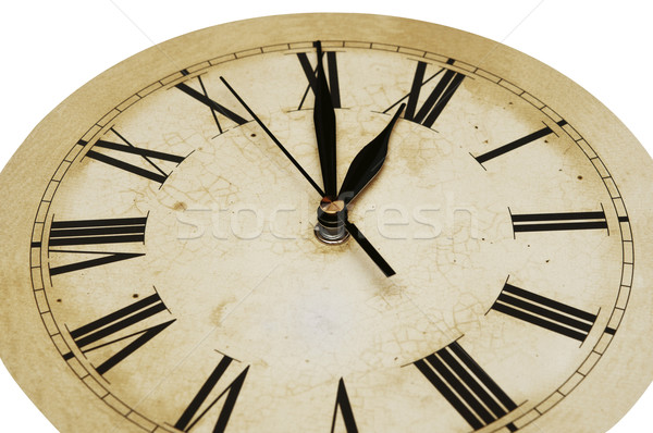 Old Clock Isolated on white . old vintage clock face  Stock photo © inxti